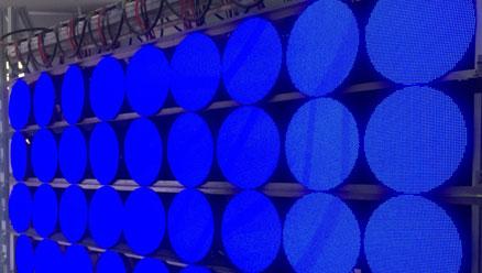 户内P4圆形LED模组老化测试
