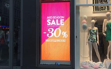 德国P4户内全彩商店LED显示屏4㎡-零售商店-美亚迪光电