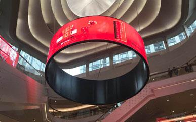 香港某商场P4户内柔性LED显示屏