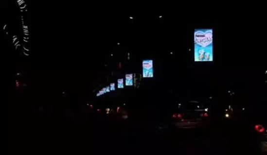 LED户外全彩灯杆显示屏 美亚迪深圳