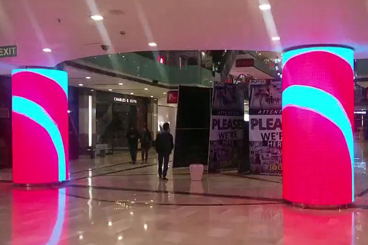LED圆柱形全彩显示屏 美亚迪 异形屏