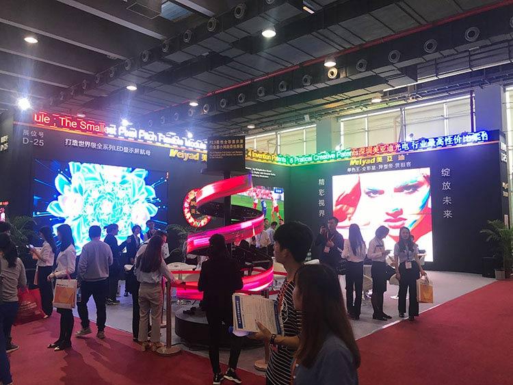 2018广州ISLE首日,美亚迪创意LED屏成最大亮点