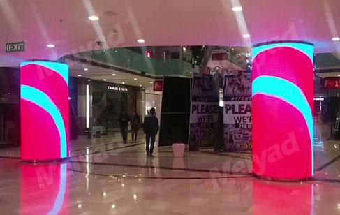 美亚迪LED圆柱形屏、异形屏、柔性屏