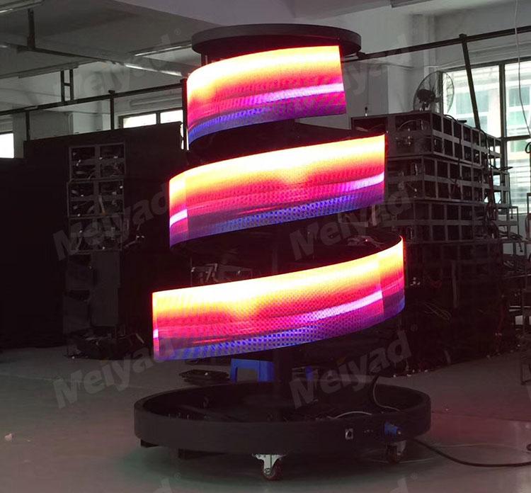 美亚迪螺旋状LED柔性屏