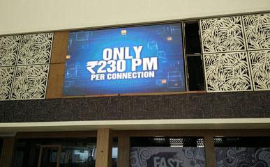 P6室内LED电子显示屏应用于印度酒店