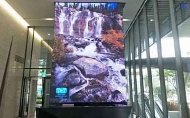 P2.5高清户内LED显示屏应用于韩国商务大厦