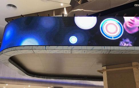 LED电子显示屏组装与连接图