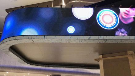 美亚迪P4户内LED柔性屏/LED软屏应用于土耳其某医院