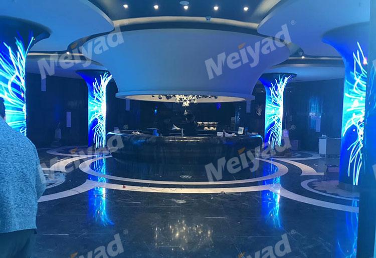 浙江台州英皇KTV P4喇叭屏LED圆柱屏LED柔性屏
