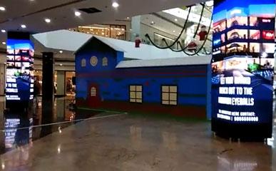 印度新德里某商场P3户内LED广告屏全彩美亚迪