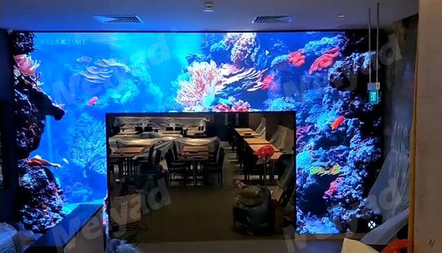 新加坡餐厅P2.5户内LED显示屏