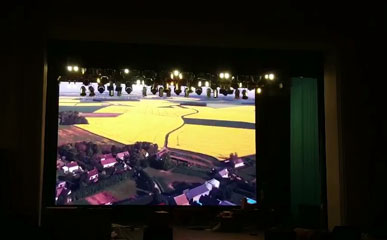 哈萨克斯坦P5户内固装LED显示屏55平米