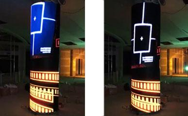土耳其大型商场P4户内LED圆柱显示屏