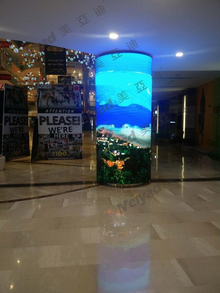 印度购物中心P4 LED柔性屏-创意显示屏-美亚迪光电
