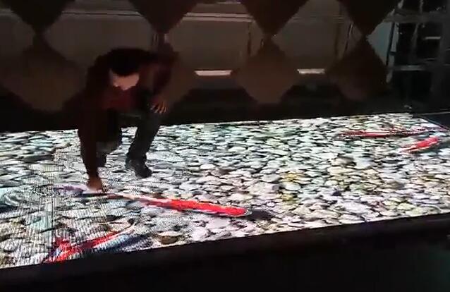 LED 显示屏互动地砖屏 美亚迪光电
