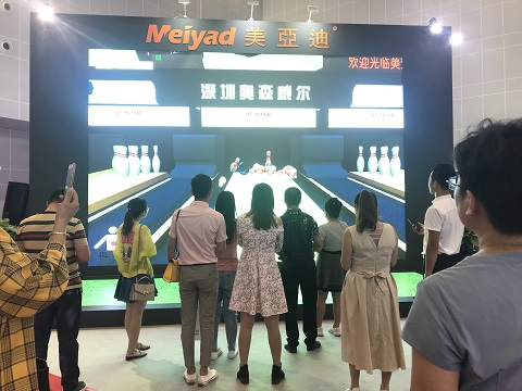 美亚迪互动LED显示屏东盟博览会现场