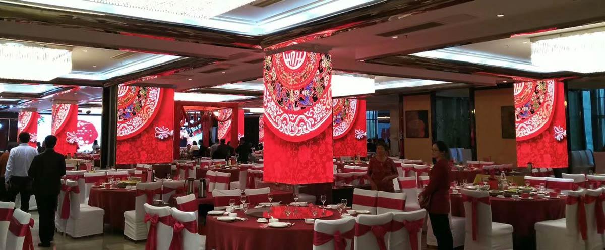 张家港酒店P4室内全彩LED显示屏