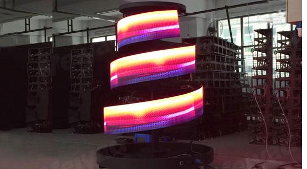 螺旋状LED显示屏