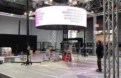 德国美博展P4 LED圆弧屏