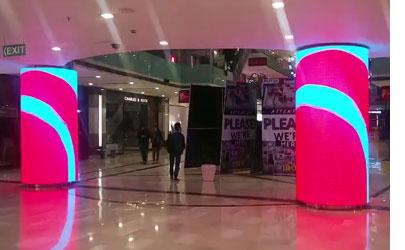 印度商场P4圆柱屏