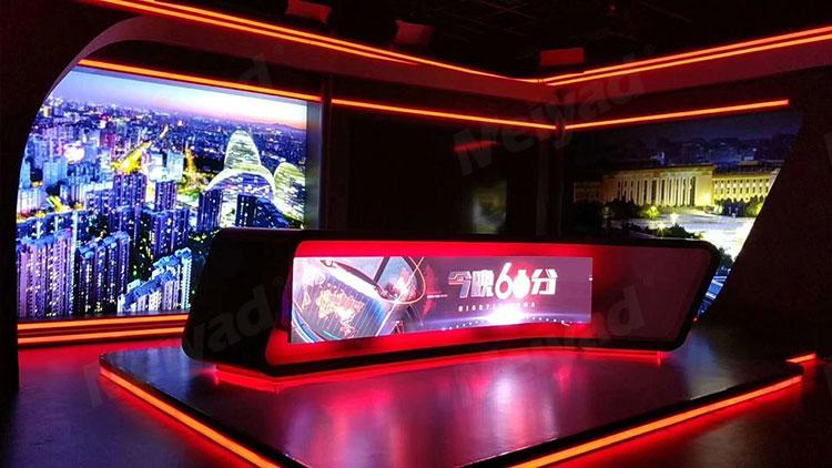 美亚迪P2.5柔性屏应用于北京某电视台