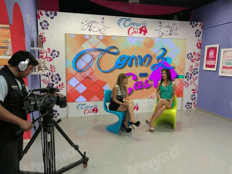 美亚迪P4LED显示屏应用于秘鲁电视台