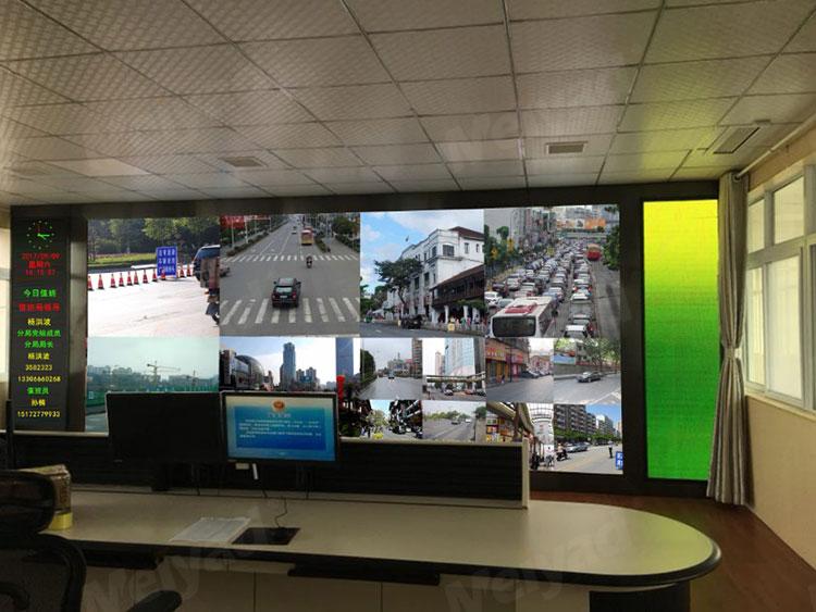 随州公安局监控室P1.875小间距LED显示屏