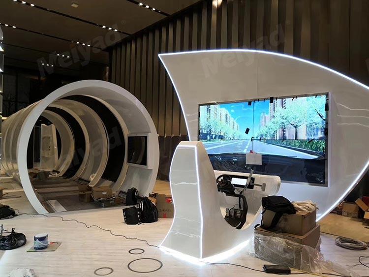 上海某展览馆隧道造型P2.5柔性LED显示屏软模组