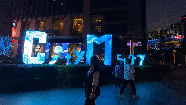 """美亚迪承制广州某商业广场CITY MEMORY""""LOGO艺术屏"""